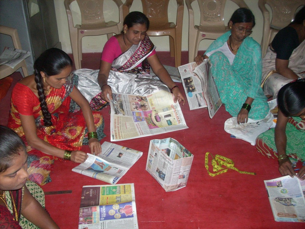 Paper bag making workshop