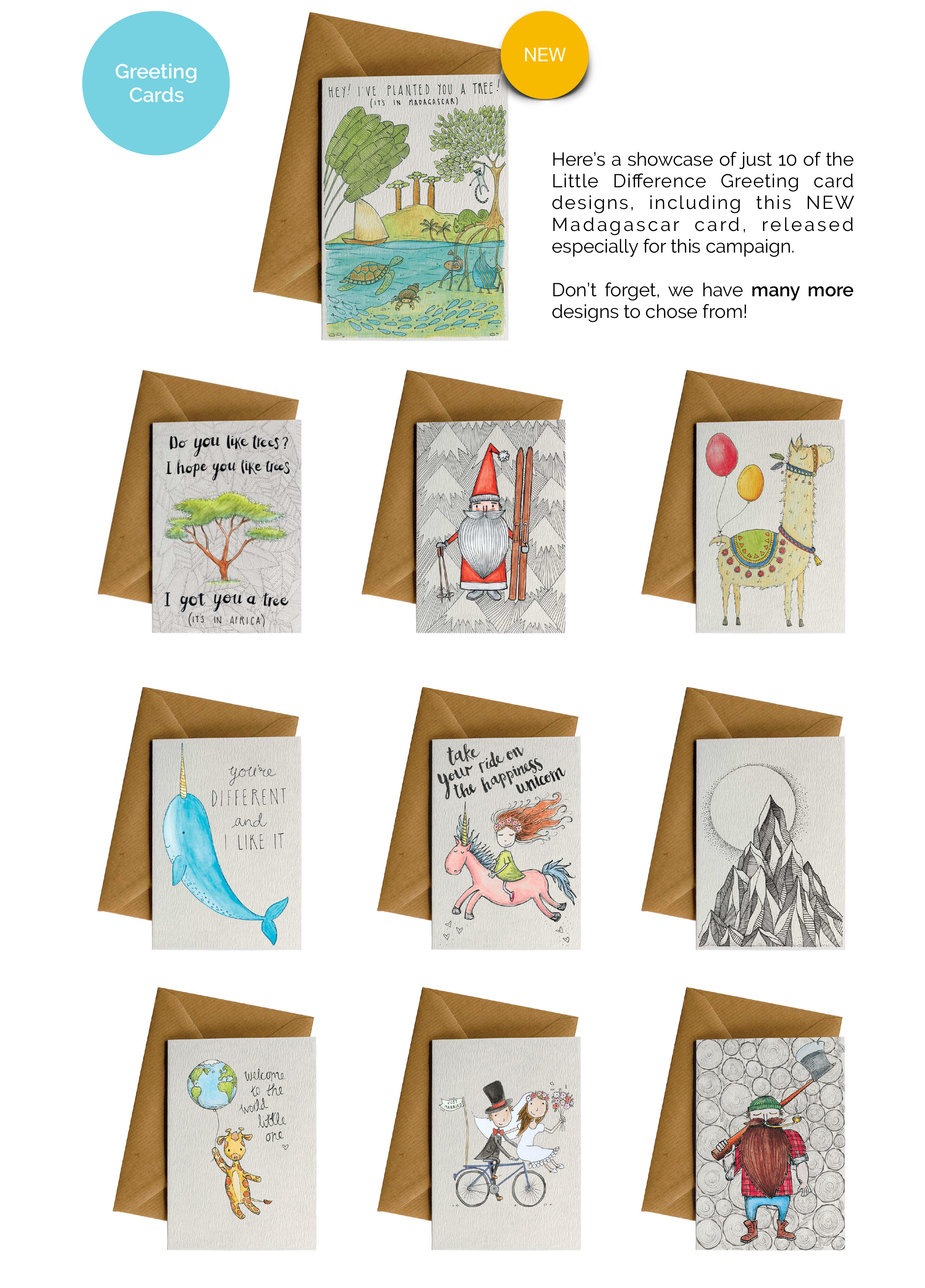 Little Difference Greeting Cards 1 Card 1 Tree Upeffect